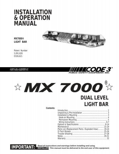 Code 3 Mx7000 Wiring wiringdiagramtoday