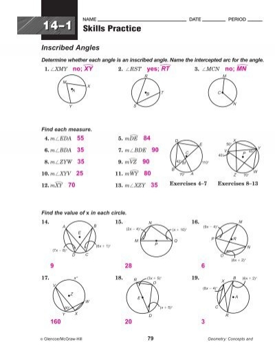 33 Inscribed Angle Practice Worksheet - Worksheet Resource ...