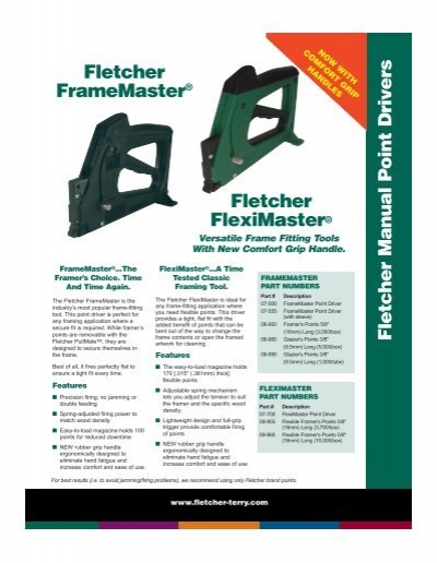 Fletcher Manual Point Drivers - The Fletcher Terry Company