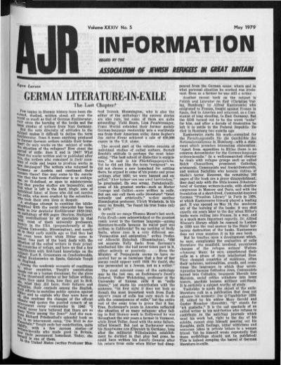 Information The Association Of Jewish Refugees