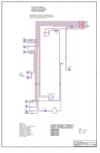 Lotus Elan S4 Wiring Diagram Rear Harness Lotus Elan Net