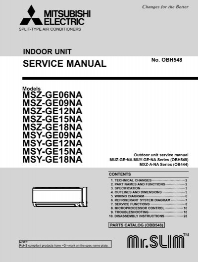 service manual msz ge06na msz ge09na msz acdirect rh yumpu com