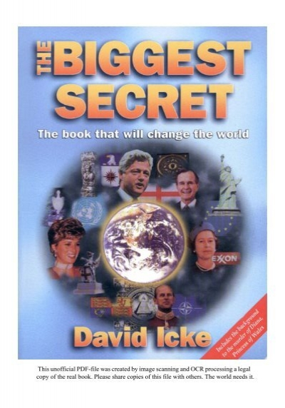 The biggest secret the book that will change the world david icke.