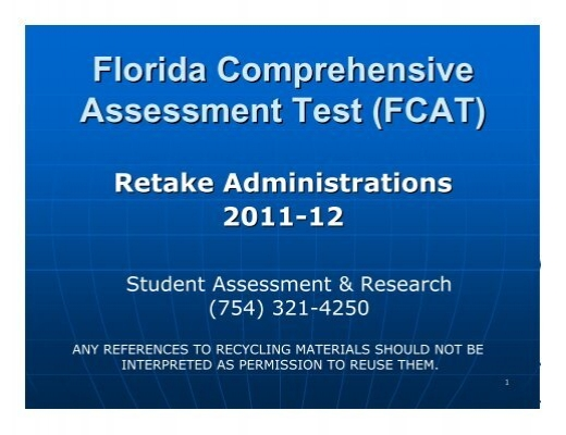 florida comprehensive assessment test thesis Florida's k-12 statewide assessment program to learn about the individual k-12 assessments offered in florida, visit the links below.