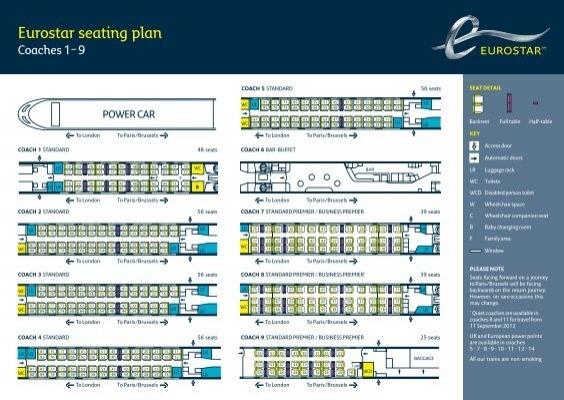 Eurostar seat plan coach 18 for Apt theater schedule