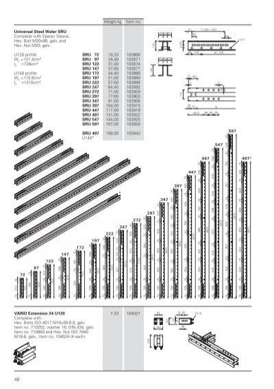 universal steel waler sru. Black Bedroom Furniture Sets. Home Design Ideas