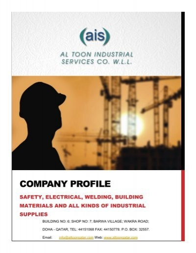 COMPANY PROFILE - Al Toon Industrial Services Co  WLL