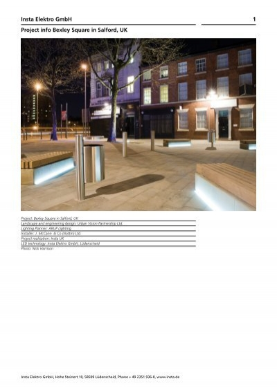 Insta Lüdenscheid insta elektro gmbh project info bexley square in salford uk 1