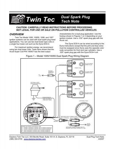 dual spark plug tech note daytona twin tec ignition coil plug duel spark ignition coil wiring diagram #30