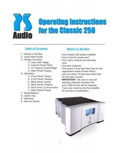Classic 250 - PS Audio
