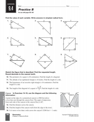 Lesson 102 Practice C Geometry Answers