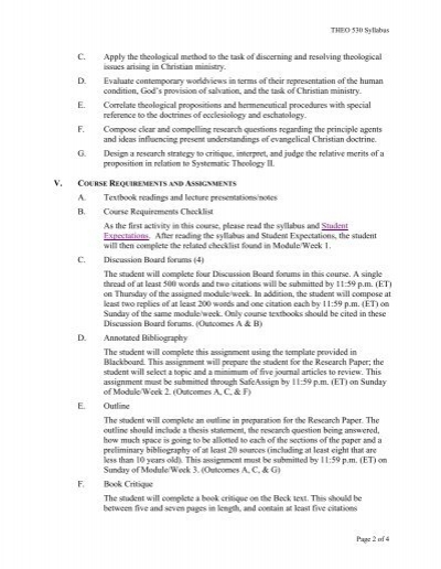 theo104 syllabus The attendance policy for a particular course should be stated in the course syllabus if the instructor fails to be present at the beginning of a class period, students are expected to extend the courtesy of allowing 10 minutes to elapse, in the absence of a specific directive, before departing.