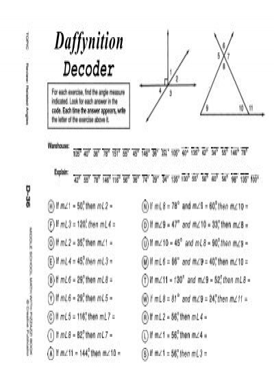 warehouse daffynition decoder math worksheet warehouse best free printable worksheets. Black Bedroom Furniture Sets. Home Design Ideas