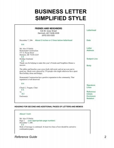 business style letter business 20762