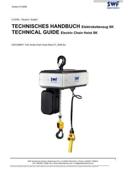 Technisches Handbuch Elektrokettenzug Sk Swf