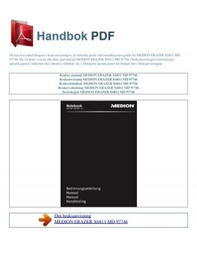 bruker manual medion erazer x6811 md 97746 rh yumpu com Medion Phone Medion Tablet PC