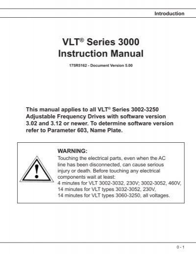installation vlt 3006 301