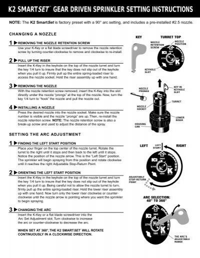 5 in. K2 smart set gear drive sprinkler-91031 the home depot.