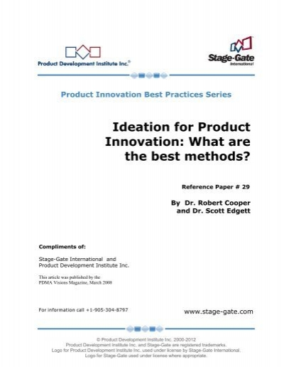 Ideation For Product Innovation What Are The Best Methods