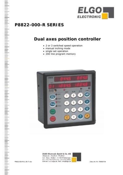 P8822 000 R ELGO Electric GmbH
