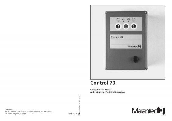 Marantec comfort 260 operating instructions manual pdf download.