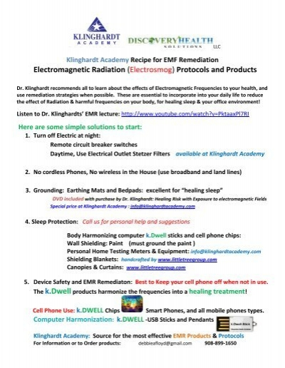 EMR Remediation Recipe and Products - Klinghardt Academy