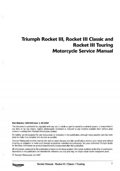 triumph rocket ill, rocket iii classic and rocket iii touring