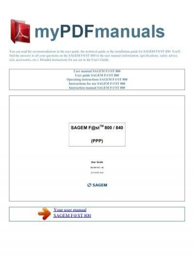 logiciel sagem f st 800-840