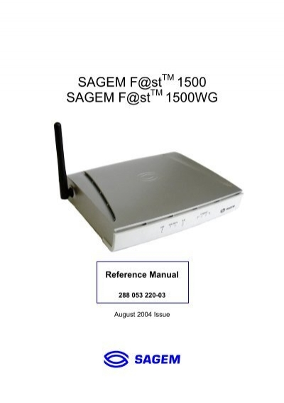 sagem f st 1500 sagem f st 1500wg support rh yumpu com Wireless Modem Icon Qwest Wireless Modem