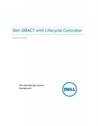 Dell iDRAC7 with Lifecycle Controller Feature Guide - Ikoula