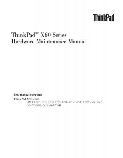 thinkpad x60 series hardware maintenance manual ibm rh yumpu com IBM X60s Laptop IBM ThinkPad