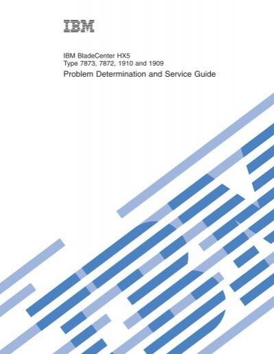 IBM BladeCenter HX5 Type 7873, 7872, 1910, and 1909: Problem