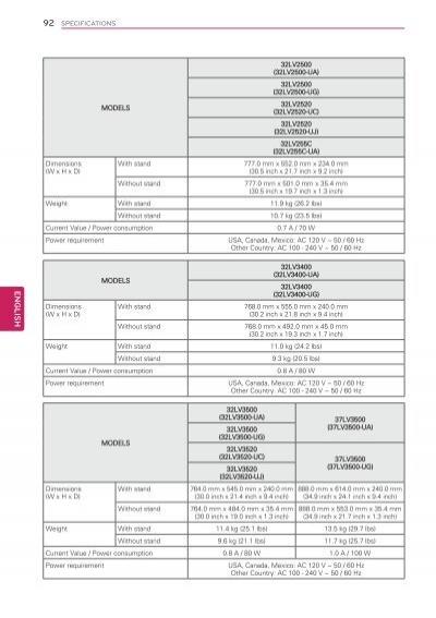 LG 32LV3520 Owner's Manual Download