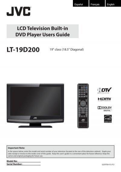lcd television built in dvd player users guide jvc rh yumpu com lcd tv user manual samsung series 4 lcd tv user manual samsung series 6