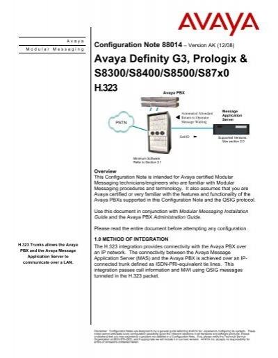 Avaya S8300 Manual