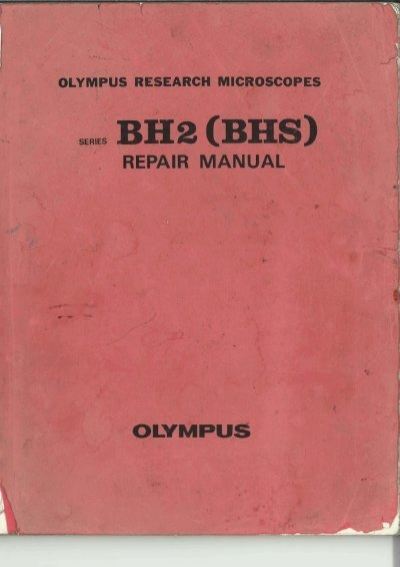 olympus bh 2 bhs research microscope repair manual rh yumpu com Olympus BH-2 Bulb Olympus BH-2 Bulb