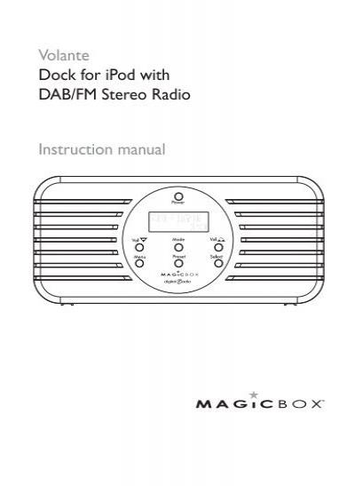 magicbox digital radio instructions
