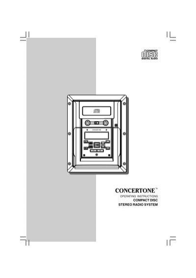 COMPACT DISC STEREO RADIO SYSTEM - Concertone   Concertone Wiring Diagram      Yumpu