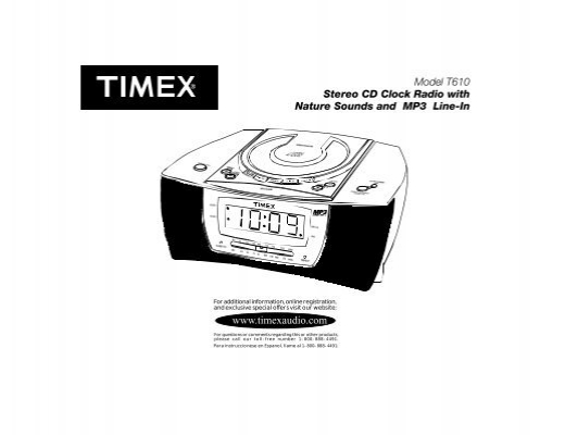 model t610 stereo cd clock radio with nature timex audio rh yumpu com Timex Indiglo Instruction Manual Timex Indiglo Instruction Manual