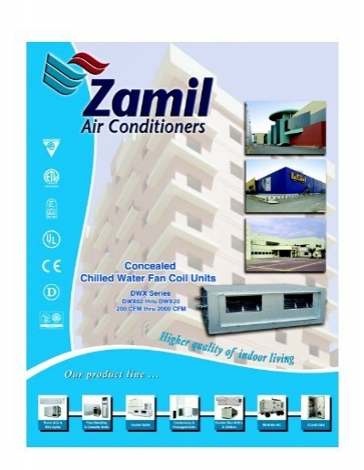 concealed chilled water fan coil units zamil air. Black Bedroom Furniture Sets. Home Design Ideas