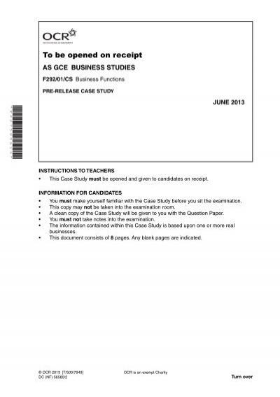 ocr f292 case study