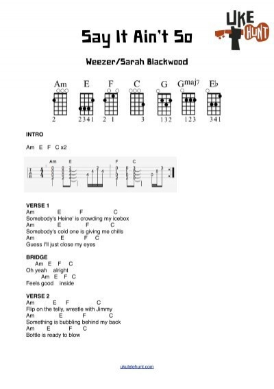 Weezer/Sarah Blackwood – Say It Ain\'t So - Ukulele Hunt