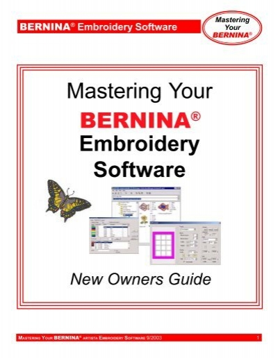 Mastering Your Embroidery Software Bernina