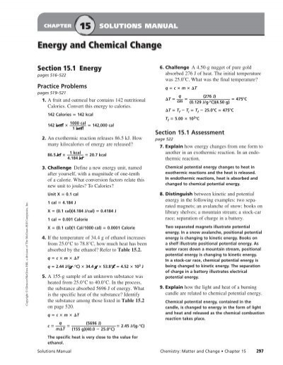 chemistry matter and change chapter 12 assessment answers