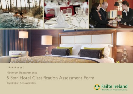 Star Hotel Classification Assessment Form  Failte Ireland