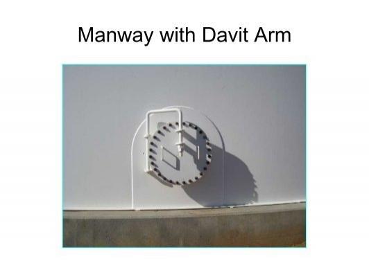 Manway With Davit Arm