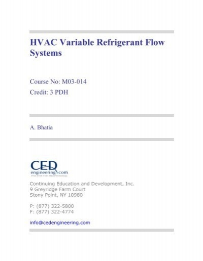 Hvac variable refrigerant flow systems ced engineering sciox Gallery