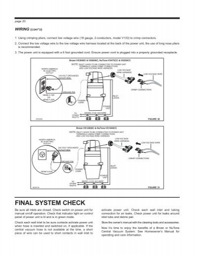 broan bell wiring diagram door bell wiring diagram page 20 wiring (cont'd)