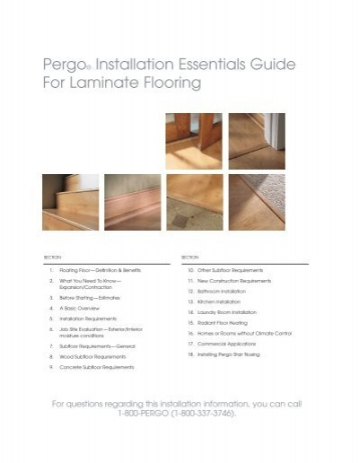 Pergo 174 Installation Essentials Guide For Laminate Flooring