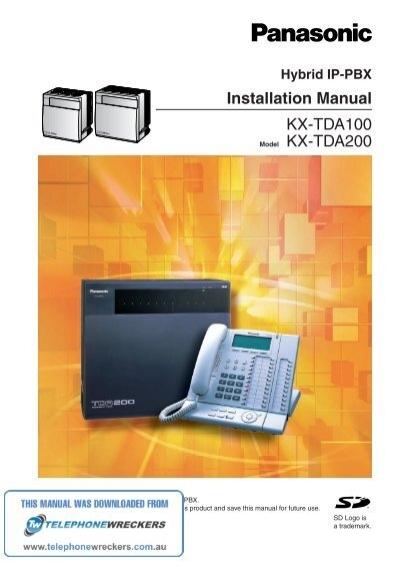 kx tda100 installation manual telephone wreckers pty ltd rh yumpu com kx-tda200 programming manual kx-tda200 user manual